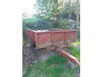 Farm equestrian dump trailer