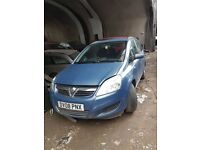 Vauxhall Zafira 2008 blue breaking and selling for parts