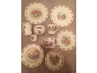 'Bunnykins' fine china set 10 pieces