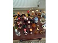 Miniature Liquor Bottles about 250 of them all full