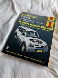 Haynes manual For Mitsubishi Pajero 1997 thru 2009, used but very good condition.