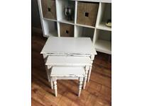 Shabby chic nest of 3 tables