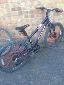 "Grey RBK mountain bike 24"" wheels"