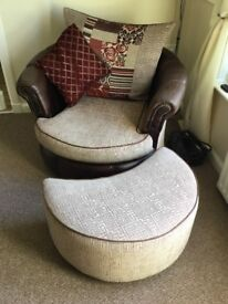 4 seater couch and swivel chair