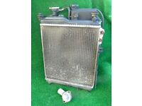 Hyundai Getz Radiator.(Incl: Fan, Expansion Bottle,Thermostat etc..) From a 2004 1.3 GSi (No leaks)