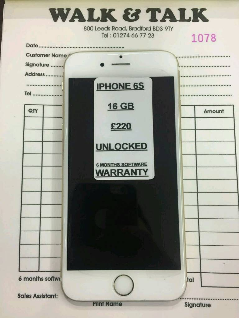 Iphone 6S 16GB from £195