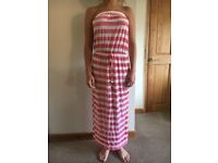 NEXT SIZE 10 PINK AND WHITE STRIPED MAXI DRESS