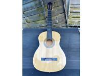 Unbranded acoustic guitar