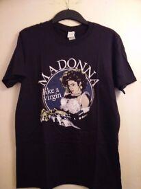Madonna T Shirt - Like A Virgin Size M