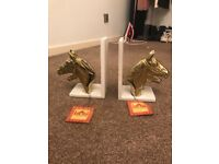 Horse Head Journey to India Book Ends