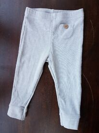 Next baby grey knitted leggings 9-12 months