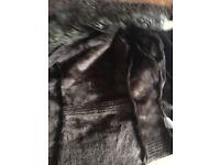 Brown Suede ladies jacket size 12/14
