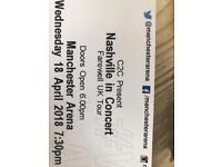 REDUCED VIP Nashville Tour Tickets Manchester 18th April x 2