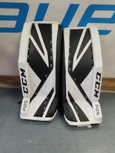 "New CCM Premier P2.5 Junior Ice Hockey Goalie Pads 26""+1"