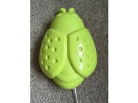 Ikea lime green ladybug wall light