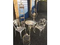 Selection of shabby chic garden furniture