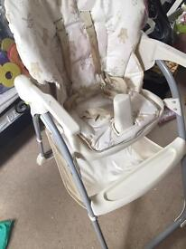 Mothercare folding high chair
