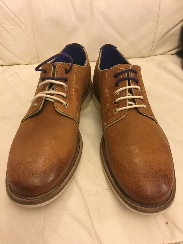 Brand new Ted Baker men's tan brown leather