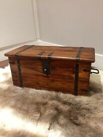 Antique / vintage / rustic solid oak chest