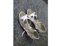 Silver Dance Shoes 1inch heels....21 pairs available (used)....£3.00 per pair