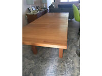 Solid Oak Extending Table with 8 chairs