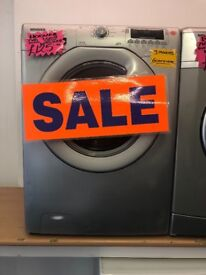 HOOVER 7KG DIGITAL SCREEN WASHING MACHINE IN SILIVER