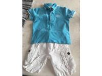 Hugo boss shorts and tshirt