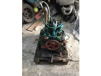 Farymann diesel A.30 single cylinder water cooled 4 stroke engine and gearbox