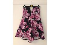 Size 14 purple flowery playsuit