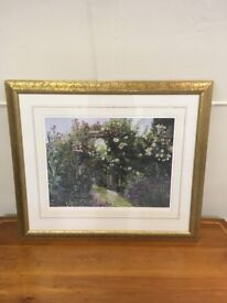 Elaine Broadley 'Garden Archway' signed limited edition print