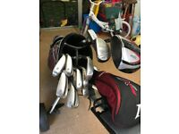 Golf clubs including trolley perfect for starter