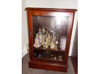 McDonagh Furniture Mahogany style Glass Cabinet