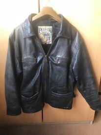 Vintage Leather Biker Jacket PELLECCINI 38