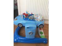 Adjustable baby walker for boys