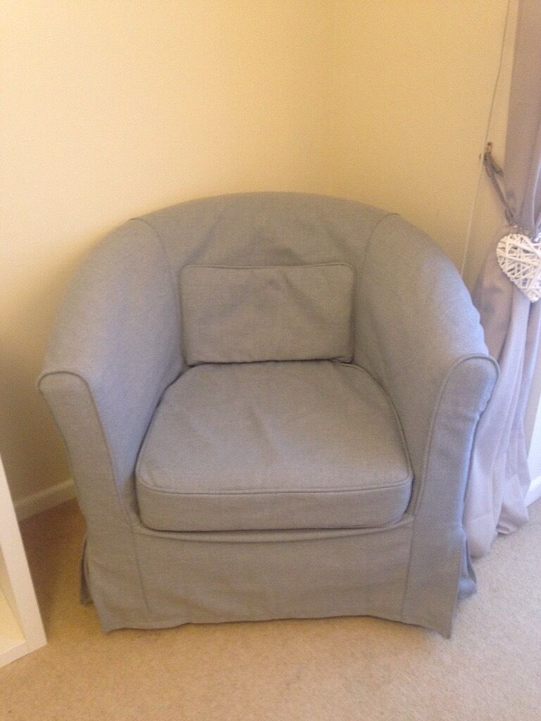 Ikea Tullsta Armchair With New Nordvall Medium Grey Cover 40 Or