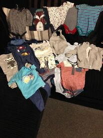 3-6 months old baby boy clothes bundle