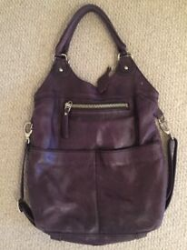 """Women's Leather Handbag - by Canadian brand """"Roots"""" £65"""