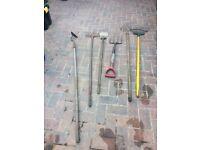 Joblot of 6 garden tools
