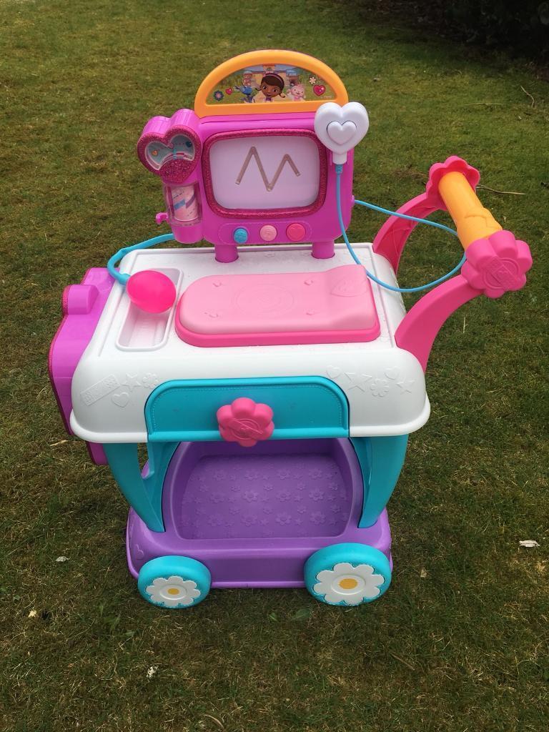 Doc Mcstuffins Toy Hospital Care Cart Used Original Box