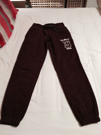 Womens Dark Red BrookHaven Thick Tracksuite Bottoms