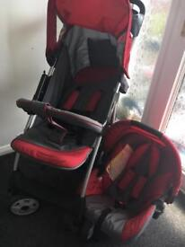 HAUCK TRAVEL SYSTEM, PRAM, PUSHCHAIR