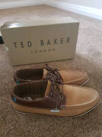 Mens Ted Baker boat shoe. Like new worn once RRP £60 Size 8