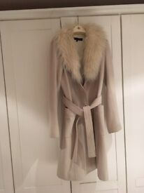 Cream French connection coat size 12