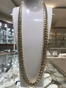 10k Yellow Gold Solid Miami Cuban Link Chain 34 inches 15 mm 507 gr