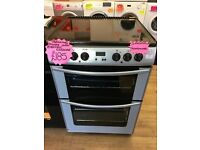 BELLING 60CM CEROMIC TOP ELECTRIC COOKER IN SILIVER