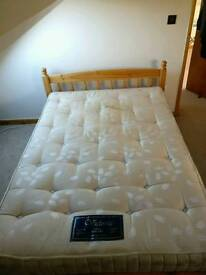 Cheap barely used Double bed with mattress for sale