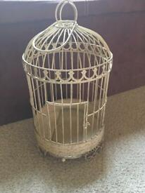 Old large vintage looking shabby chic bird cage