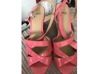 Pink wedge shoes Size 7
