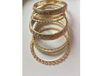 Size S pretty pink bangles originally from Monsoon Accessorize