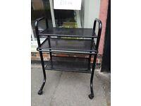 Computer trolley, black good condition